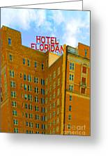 Hotel Floridan Greeting Card