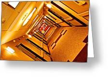 Hotel Hallway Greeting Card