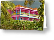 Hotel Jamaica Greeting Card by Linda Bianic