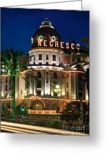 Hotel Negresco By Night Greeting Card