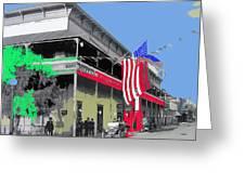 Hotel  Orndorff Colored American Flags Tucson Arizona Circa 1915-2012 Greeting Card