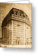 Hotel Pontchartrain Detroit 1910 Greeting Card by Mountain Dreams