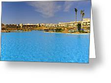 Hotel Resort Panorama Greeting Card