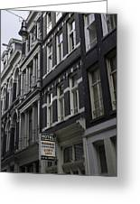 Hotel Rooms Clean And Simple Amsterdam Greeting Card