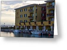 Hotel Sirmione. Lago Di Garda Greeting Card