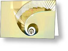 Hotel Staircase Lisbon Greeting Card