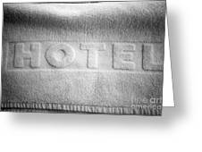Hotel Towel Greeting Card