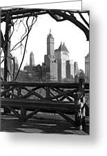 Hotels Seen From Central Park  Greeting Card