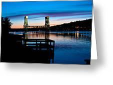 Houghton Bridge Sunset Greeting Card