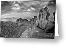 Hound Tor Dartmoor Greeting Card