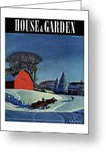 House And Garden Christmas Decoration Cover Greeting Card