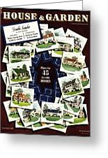 House And Garden Cover Featuring A Collage Greeting Card