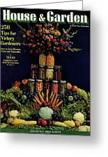 House And Garden Cover Featuring Fruit Greeting Card