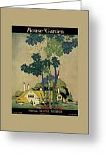 House And Garden Cover Greeting Card by H. George Brandt