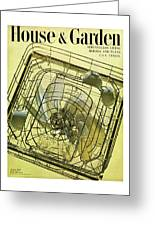 House And Garden Servant Less Living Houses Cover Greeting Card