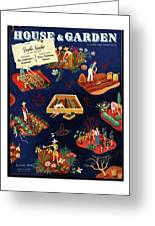 House And Garden The Gardener's Yearbook Cover Greeting Card