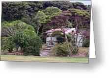 House And Garden Waitamgi Greeting Card