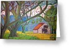 House And Trees Greeting Card