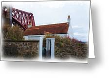 House At The Bridge Greeting Card