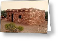 House At The Timbisha Shoshone Homeland Greeting Card