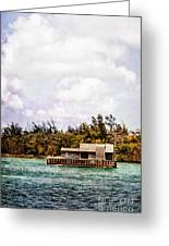 House Boat Greeting Card