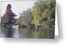 House Boat On River Avon Greeting Card