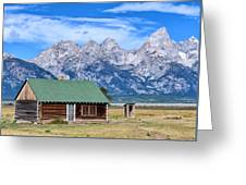 House By The Tetons Greeting Card