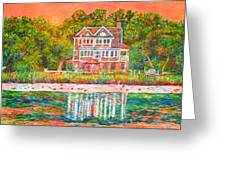 House By The Tidal Creek At Pawleys Island Greeting Card