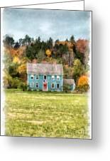 House By The Woods Greeting Card
