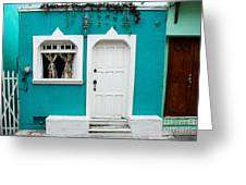 House Front Mexico Greeting Card