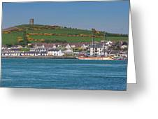 House In A Town, Portaferry Greeting Card