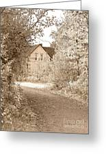 House In Autumn Greeting Card