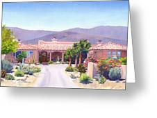 House In Borrego Springs Greeting Card by Mary Helmreich