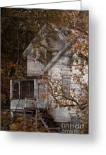 House In Fall Greeting Card