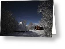 House In Moonlight Greeting Card