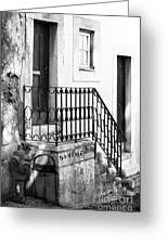 House In The Corner Greeting Card by John Rizzuto