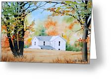 House In The Meadow Greeting Card