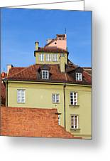 House In The Old Town Of Warsaw Greeting Card