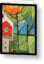 House In The Trees Greeting Card