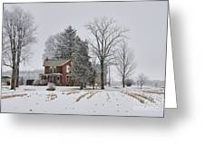House In Winter Greeting Card