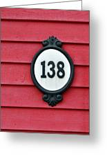 House Number. Greeting Card