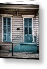 House Of Blue Doors Greeting Card