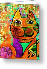 House Of Cats Series - Blinks Greeting Card