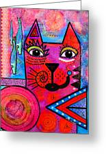 House Of Cats Series - Tally Greeting Card by Moon Stumpp