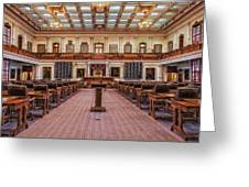 House Of Representatives - Texas State Capitol Greeting Card