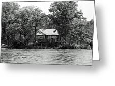 House On An Island Greeting Card by Thomas Fouch