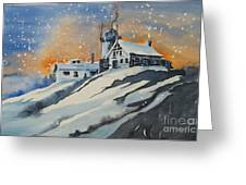 House On Hill Greeting Card
