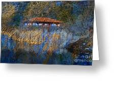 House On Lake Greeting Card