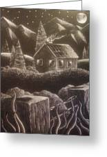 House On The Hills Greeting Card