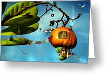 House On The Sky Greeting Card